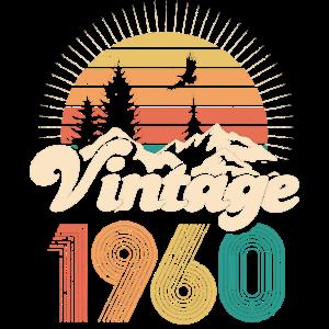 Vintage 1960 60. Geburtstag Sechzig Jahre Geschenk