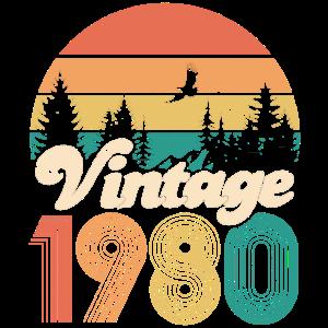 Vintage 1980 40. Geburtstag Vierzig Jahre Geschenk