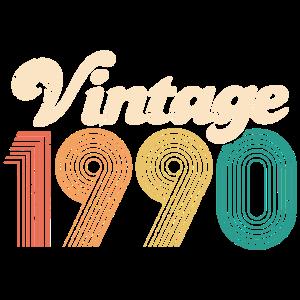 Vintage 1990 30. Geburtstag Dreißig Jahre Geschenk