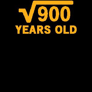 Quadratwurzel von 900 30 Jahre alt 30. Geburtstagsgeschenk