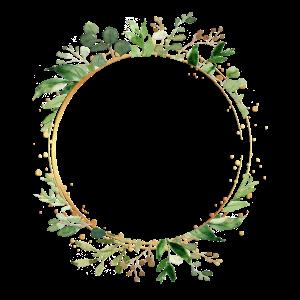 leaf_frame_round_green_gold