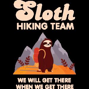 Sloth Hiking Team - Retro Vintage Mountains Hike