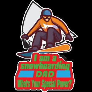 Snowboarding Dad Vater