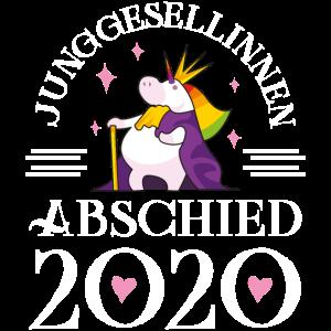 Junggesellinnen abschied 2020 einhorn herz