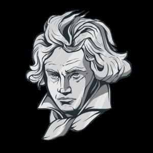 Beethoven Gesicht Büste mit Beethoven Komponist
