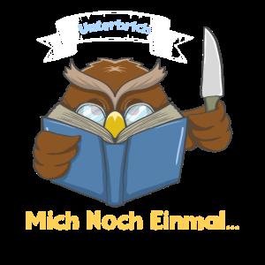 Eule Lesen Liebhaber Bücherwurm Leseratte Geschenk