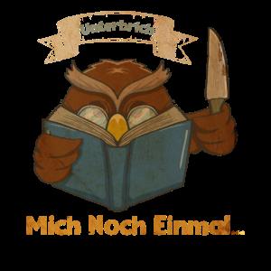 Lesen Schöne Eule Lesefieber Bücherwurm Geschenk