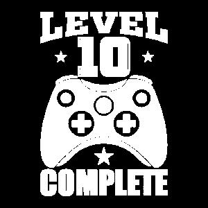 10 Geburtstag Level 10 complete Gamer Geschenk