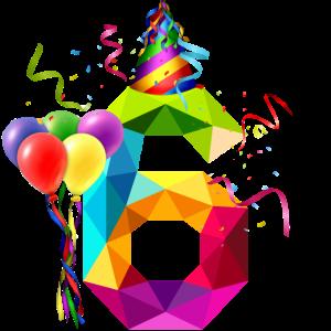 6. Geburtstag - Geburtstagskind - Happy Birthday