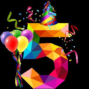 5. Geburtstag - Geburtstagskind - Happy Birthday