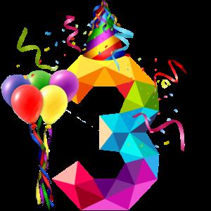 3. Geburtstag - Geburtstagskind - Happy Birthday