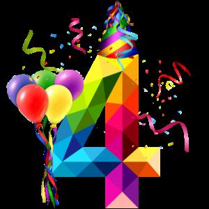 4. Geburtstag - Geburtstagskind - Happy Birthday