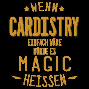Cardistry Design Spielkarten Zauberei Magier Ass