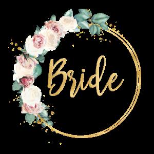 New roses wreath team bride 1