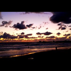 Sonnenuntergang Strand Sizilien Wolken Meer Natur