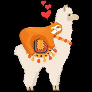 Faultier Reiten Lama süß