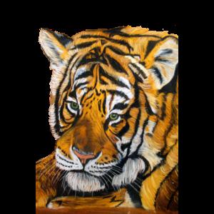 Pastellzeichnung des Tigers