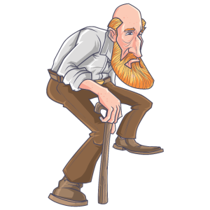 Old Alter Mann Cartoon