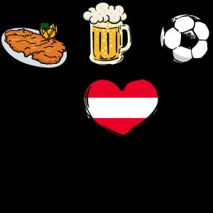 Österreich Fussball Mannschaft Fussballfan Lustig