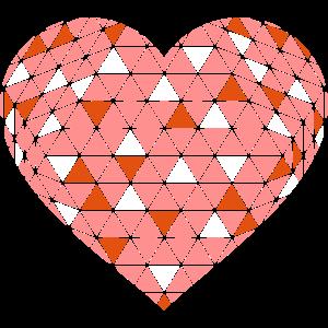 Herz in drei Farben