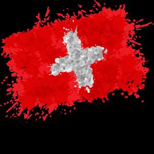 Schweiz Nati Flagge Fahne Fussballfan Mannschaft