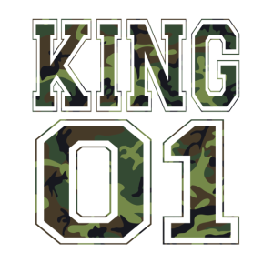 King 01 camouflage Paar-Liebe Liebespaar Geschenk