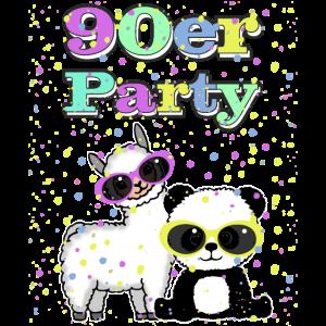 90er Jahre Lama Panda für Damen, Herren, Kinder