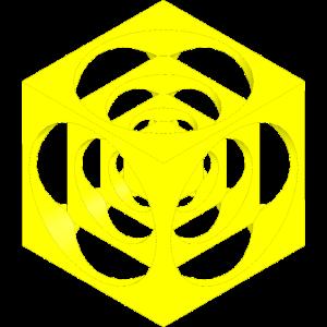 wuerfel im wuerfel uni gelb