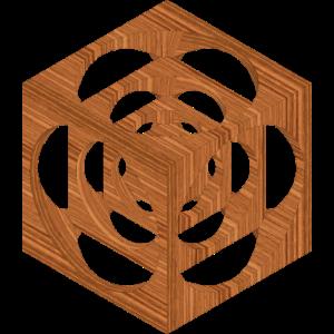 wuerfel im wuerfel textur Holz Walnuss