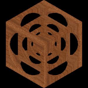 wuerfel im wuerfel textur Holz Mahagoni