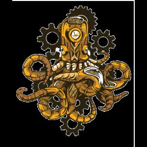 Steampunk Oktopus cooler Steampunk Tintenfisch
