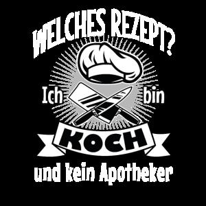 Koch Kuechenchef lustiger Spruch Geschenk