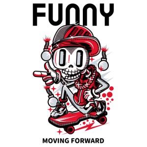 Calavera Skater   Urban Funny