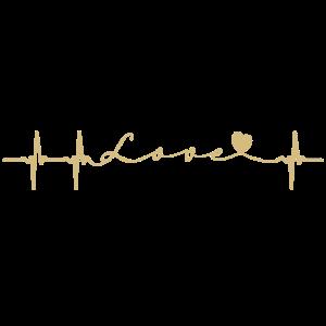 Lovebeat - Heartbeat - herz - puls - gold