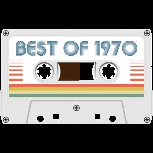 50. Geburtstag Best of 1970 Cassette Tape Vintage