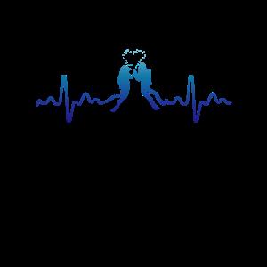 Retro Herzschlag Tauchen