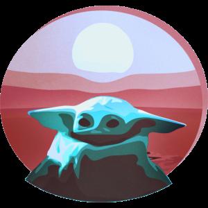 Baby Yoda inspirierte Design