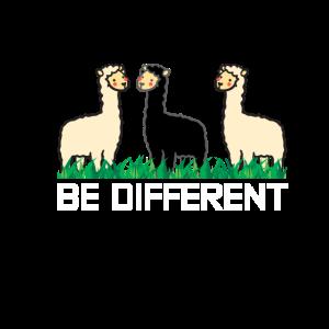 Be Different Lama Geschenk
