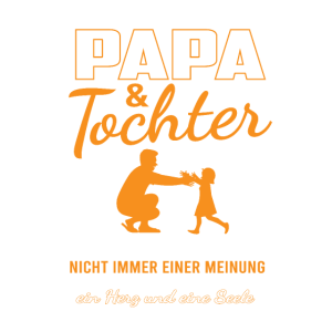 Familie Papa und Tochter Herz und Seele Partnershi