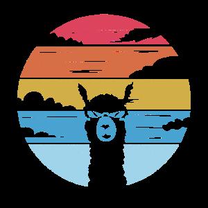 Alpaka Llama Retro