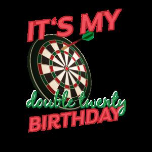 Dart Darts Spieler Vierzigster Geburtstag Geschenk