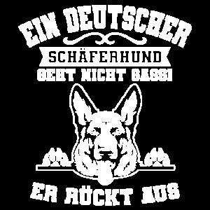 Ein Deutscher Schäferhund geht nicht Gassi