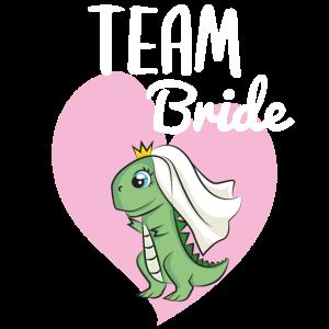 Team Bride Dino Dinosaurier Hochzeit JGA Verlobung