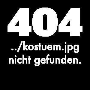 404 Kostüm nicht gefunden