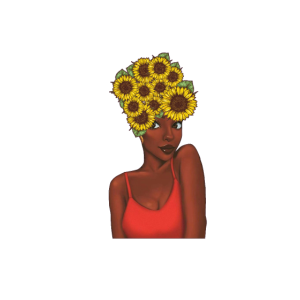 Crazy Black Girl Sunflower Natural Hair