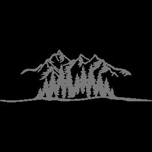 Berge mit Wald