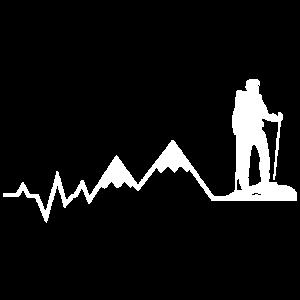 Mein Herz schlägt für Wandern - Berge Hiking EKG
