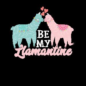 Valentinstag Llama Llamantine Shirt
