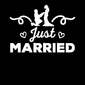Niedliches gerade verheiratetes Heirat-Antrag-Brautgeschenk