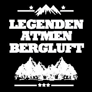 Bergsteigen Legenden atmen Bergluft Wandern Hiking